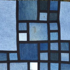 Denim Stained Glass Quilt Pattern