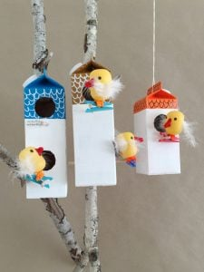 Homemade Milk Carton Bird Feeder