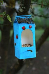 Milk Carton Bird Feeder Directions