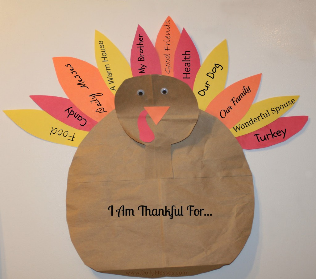 Turkey Face Craft For Preschoolers