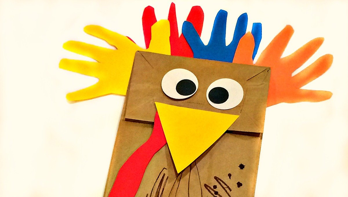 20 fun and crafty paper bag turkey projects guide patterns for Paper plate puppets templates