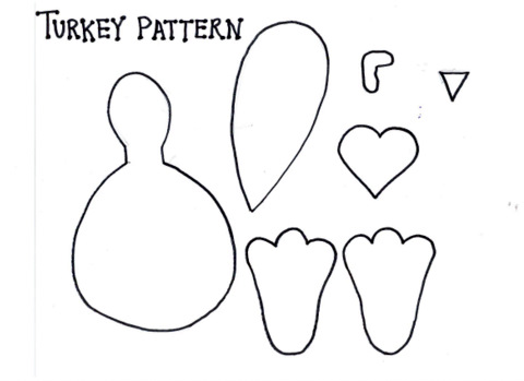 Turkey Template. Disney Parks Turkey Leg Pumpkin Carving Template