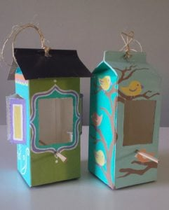 Recycled Milk Carton Feeder