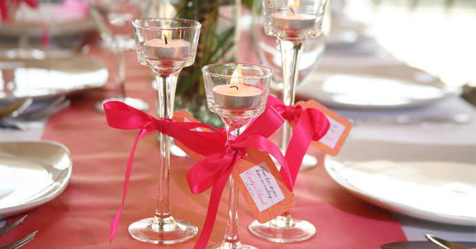 Favors By Wine Gl Candle Holders For Wedding Bridesmaid Gles