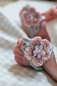 Barefoot Baby Sandals Crochet Pattern