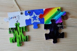 Best Friend Puzzle Piece Necklace