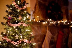 Candy Cane Christmas Tree Garland