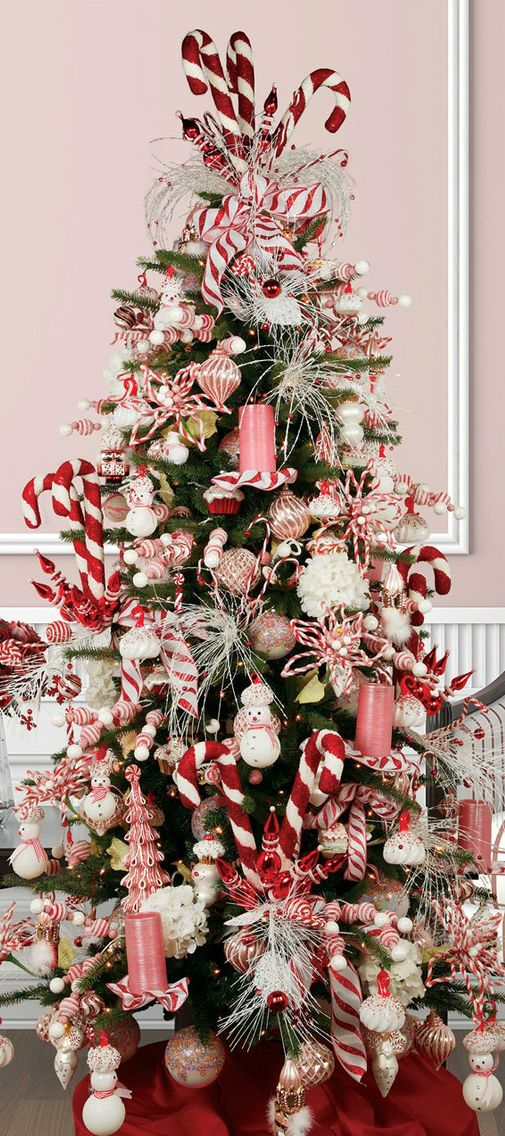 18 DIY Candy Cane Christmas Tree Ideas