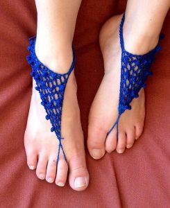 Tutorial on Crochet Barefoot Sandals