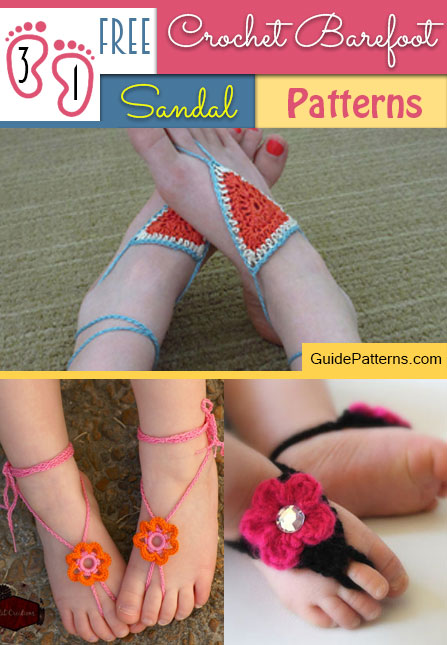 31 Free Crochet Barefoot Sandal Patterns Guide Patterns