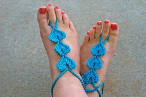 Crochet Barefoot Sandals Foot Thongs Pattern
