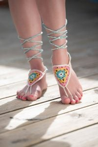 Crochet Barefoot Sandals for Beginners