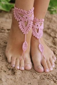 Crochet Barefoot Sandals for the Beach