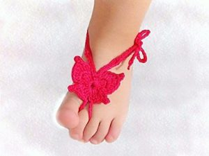 Free Crochet Butterfly Barefoot Sandals Pattern