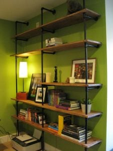 DIY Pipe Bookcase
