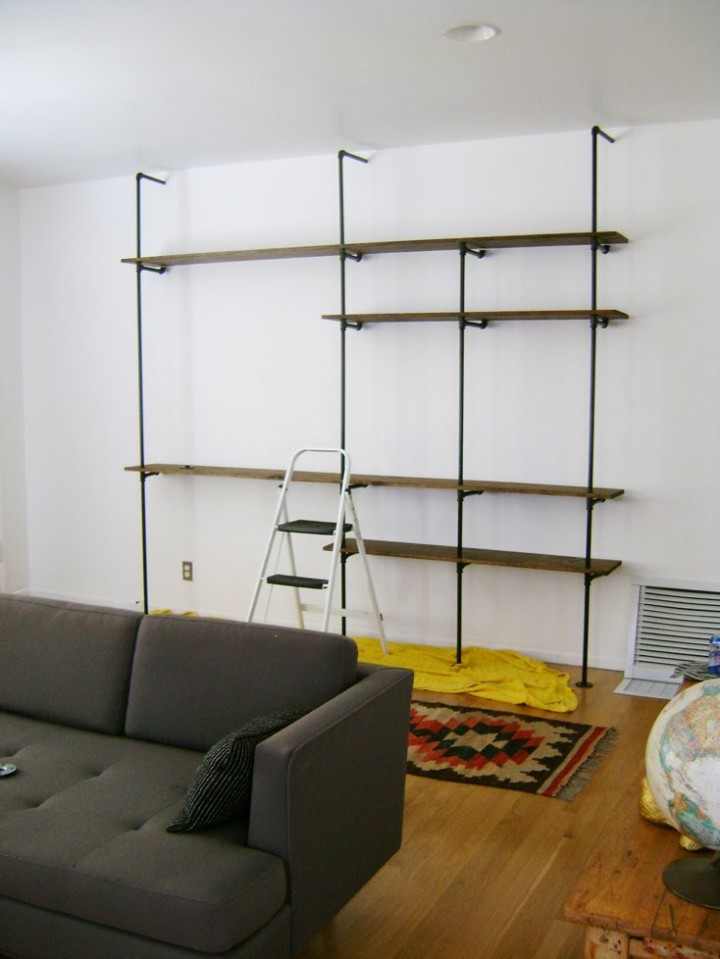 23 diy plans to build a pipe bookshelf guide patterns for Diy industrial bookshelf