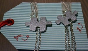 DIY Puzzle Piece Necklace