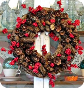 Making a Pinecone Wreath DIY