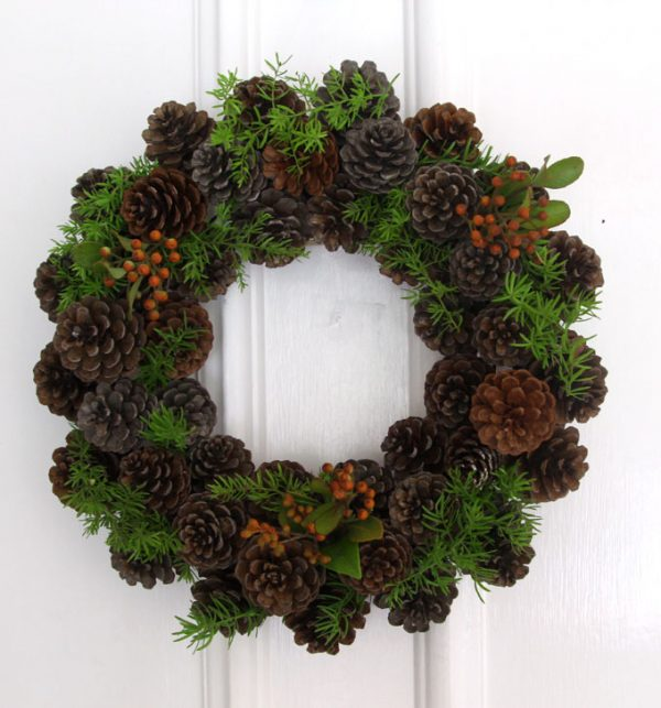 Wire Hanger Wreaths Christmas