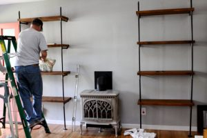 Metal Pipe Bookshelf