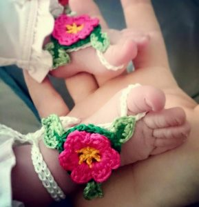 Newborn Barefoot Sandals Crochet Pattern