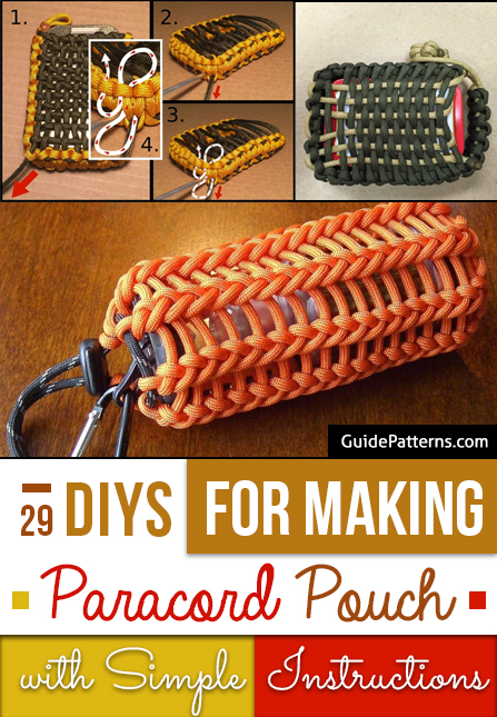 29 Diys For Making Paracord Pouch With Simple Instructions Guide