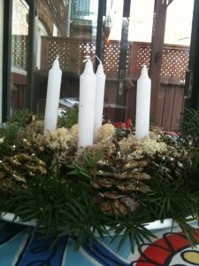Pinecone Advent Wreath