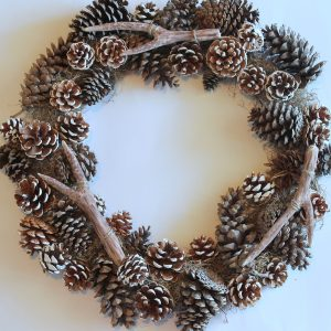Pinecone Antler Wreath