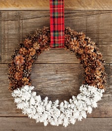 Pinecone Wreath Making