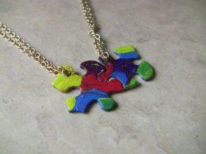 Puzzle Piece Necklace Set