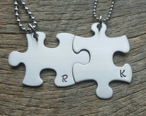 Puzzle Piece Necklaces for Couples