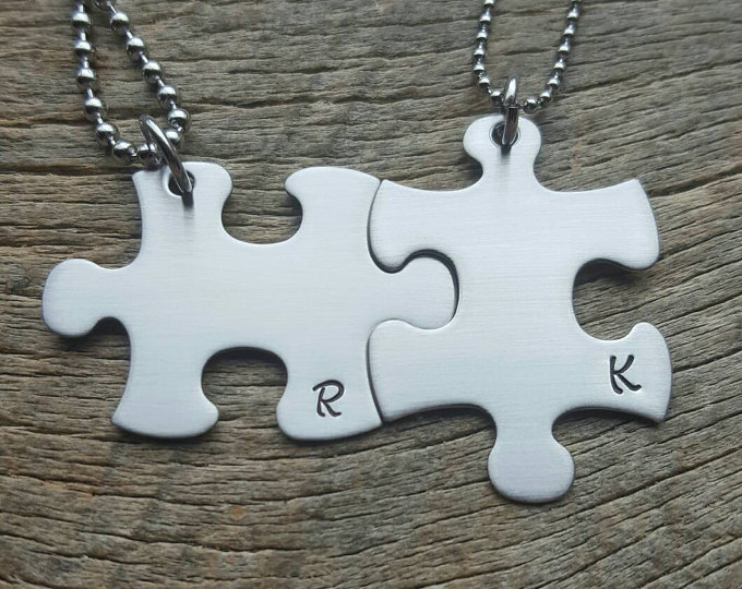 12 creative puzzle piece necklace designs guide patterns puzzle piece necklaces for couples aloadofball Gallery