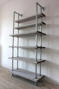 Steel Pipe Bookshelf