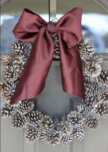 White Pinecone Wreath