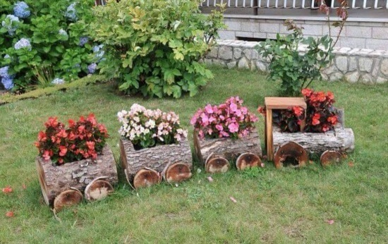 12 Ways To Build A Log Planter Guide Patterns