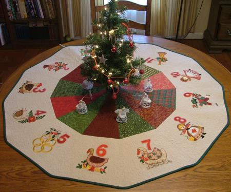free christmas tree skirt quilt pattern