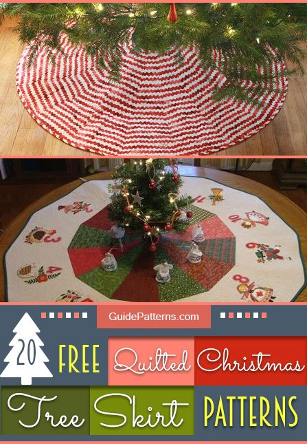 20 free quilted christmas tree skirt patterns guide patterns - Quilted Christmas Tree Skirt Pattern