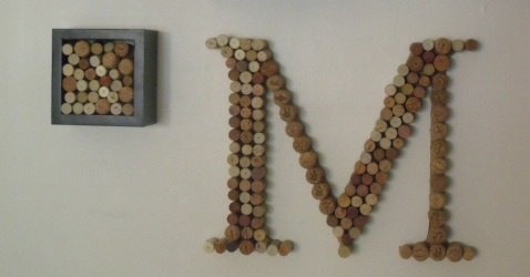 hanging wine cork letter