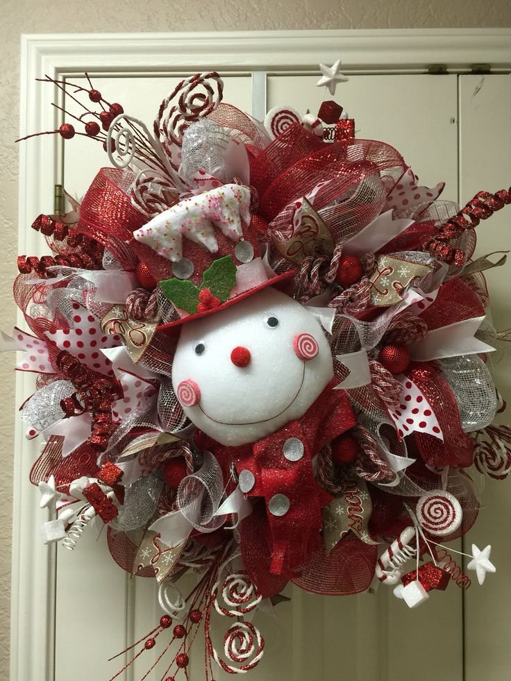 26 Diy Tutorials And Ideas To Make A Snowman Wreath