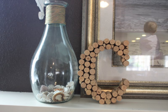 wine bottle cork letter