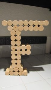 Wine Cork Craft Letter