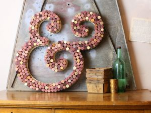 Wine Cork Display Letter