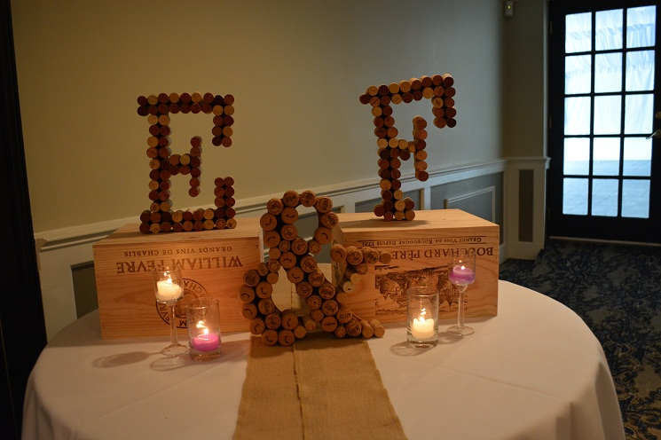 wine cork letter art