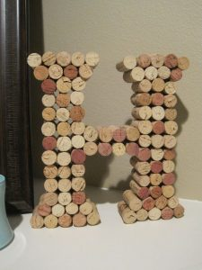 Wine Cork Letter DIY