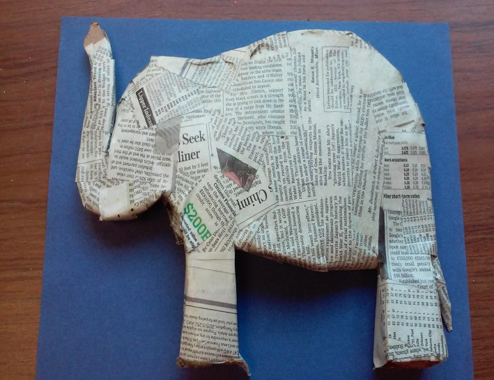 Paper mache elephant 12 super easy diy ideas guide patterns for Simple paper mache projects