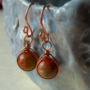 Wire Bead Earrings Design