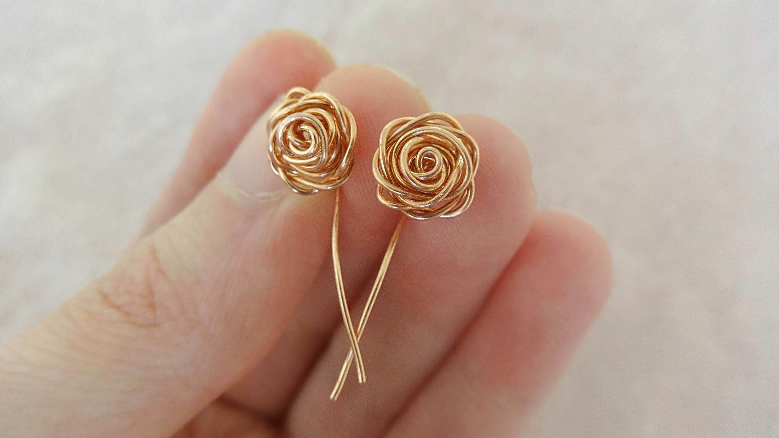 simple earrings wrapped wire