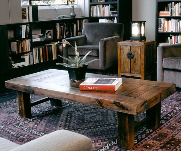 Coffee Table Made From Old Door & 15+ DIY Coffee Tables Made From Old Doors | Guide Patterns