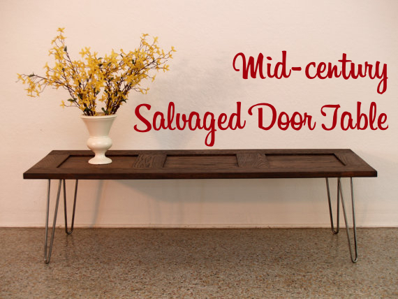 15 diy coffee tables made from old doors guide patterns for Old door into coffee table