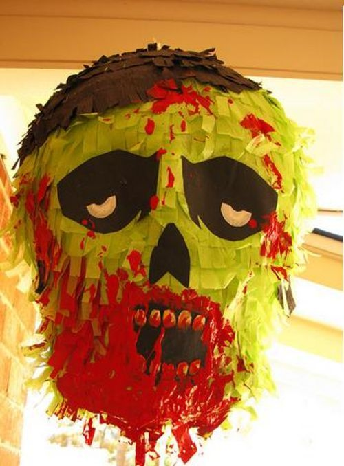 17 easy ways to make a halloween pi ata guide patterns for Zombie build